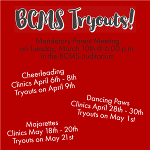 BCMS Tryouts