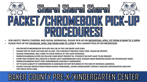 Packet/Chromebook Pick-Up Procedures
