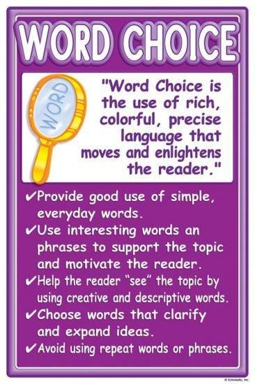 good word choice for essays Difficulties with word choice aren't the only cause of awkwardness, vagueness, or other problems with clarity sometimes a sentence is hard to follow because there is a grammatical problem with it or because of the syntax (the way the words and phrases are put together.