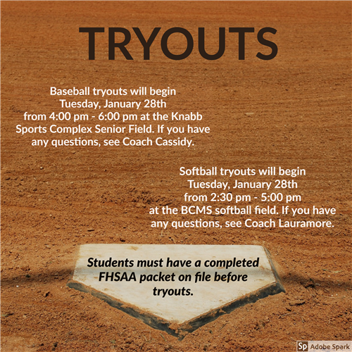 Baseball and Softball Tryouts