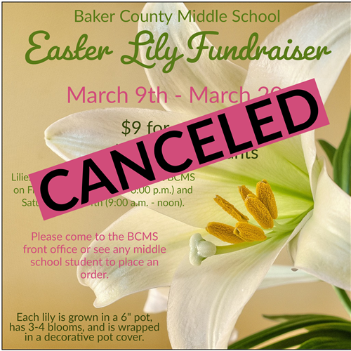 Fundraiser canceled