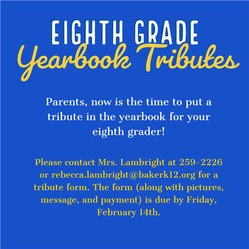 Eighth Grade Yearbook Tributes