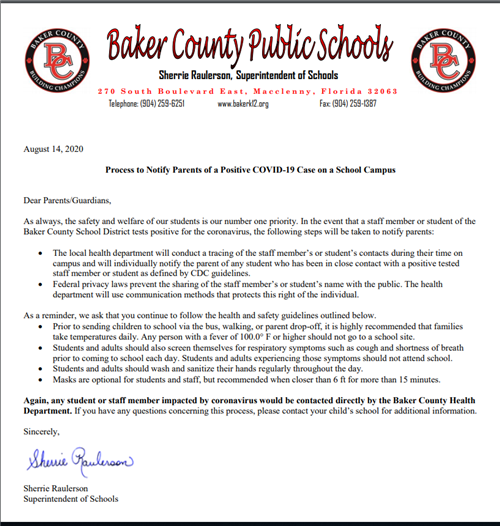 Parent Notification Letter
